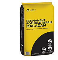 Tarmac Permanent repair Ready mixed Pothole Macadam, 25kg Bag