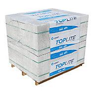 Tarmac BP Light Grey Aircrete Concrete block (H)215mm (L)440mm 5875g