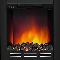 Be Modern Hopwood Black Electric fire suite