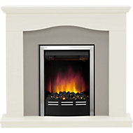 Be Modern Penelope Black Chrome effect Electric Fire Suite