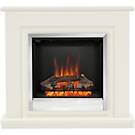 Be Modern Edmonton Black Chrome effect Electric Fire Suite