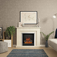 Be Modern Evelina Manila Micro Marble Chrome effect Electric Fire Suite