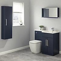 Cooke & Lewis Ardesio Matt Indigo Single door Mirrored Cabinet (W)750mm