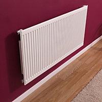 Barlo Round top Type 11 single Panel radiator White, (H)500mm (W)600mm