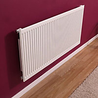 Barlo Type 11 Panel Radiator, White (W)600mm (H)500mm