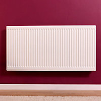 Barlo Round top Type 11 single Panel radiator White, (H)600mm (W)1200mm