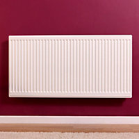 Barlo Round top Type 21 double plus Panel radiator White, (H)600mm (W)400mm