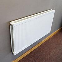 Barlo Round top Type 21 double plus Panel radiator White, (H)600mm (W)500mm