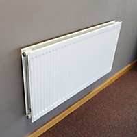 Barlo Round top Type 21 double plus Panel radiator White, (H)600mm (W)600mm