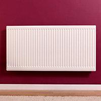 Barlo Round top Type 21 double plus Panel radiator White, (H)600mm (W)700mm