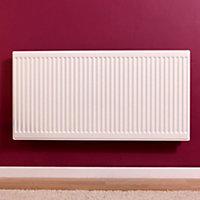 Barlo Round top Type 21 double plus Panel radiator White, (H)600mm (W)800mm