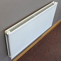 Barlo Round top Type 21 double plus Panel radiator White, (H)600mm (W)1100mm