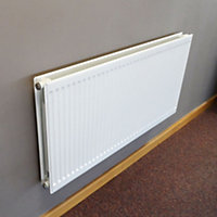 Barlo Round top Type 21 double plus Panel radiator White, (H)600mm (W)1200mm