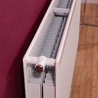 Barlo Round top Type 22 double Panel radiator White, (H)600mm (W)1000mm