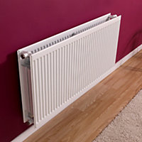 Barlo Round top Type 22 double Panel radiator White, (H)500mm (W)1000mm