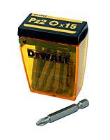 Dewalt PZ2 Screwdriver bits 50mm, Pack of 15