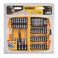 DeWalt Mixed Screwdriver bits, Pack of 45