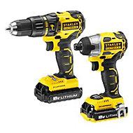 Stanley FatMax 2A Li-ion Hammer Drill & Impact driver 2 batteries FMC628
