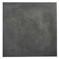 Konkrete Anthracite Matt Concrete effect Porcelain Outdoor Floor tile, Pack of 3, (L)610mm (W)610mm