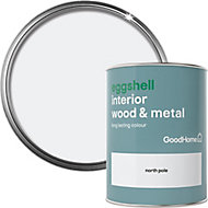 GoodHome North pole Eggshell Metal & wood paint, 0.75L