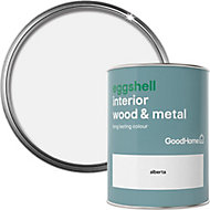 GoodHome Alberta Eggshell Metal & wood paint, 0.75L