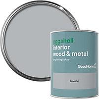 GoodHome Brooklyn Eggshell Metal & wood paint, 0.75L