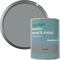 GoodHome Delaware Eggshell Metal & wood paint, 0.75L