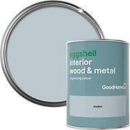 GoodHome Toulon Eggshell Metal & wood paint, 0.75L