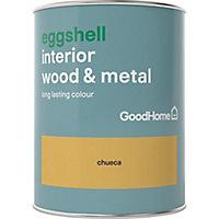 GoodHome Chueca Eggshell Metal & wood paint, 0.75L