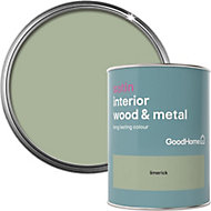 GoodHome Limerick Satin Metal & wood paint, 0.75L