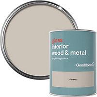 GoodHome Tijuana Gloss Metal & wood paint, 0.75L