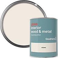 GoodHome Ottawa Gloss Metal & wood paint, 0.75L