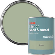 GoodHome Limerick Gloss Metal & wood paint, 0.75L