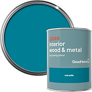 GoodHome Marseille Gloss Metal & wood paint, 0.75L
