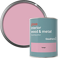 GoodHome Hyogo Gloss Metal & wood paint, 0.75L