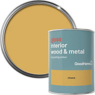 GoodHome Chueca Gloss Metal & wood paint, 0.75L