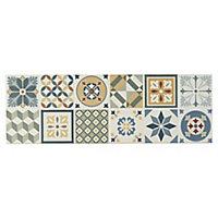 Konkrete Multicolour Matt Concrete effect Ceramic Wall tile, Pack of 8, (L)600mm (W)200mm