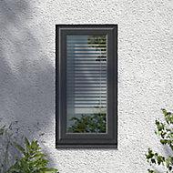 GoodHome Clear Double glazed Grey uPVC LH Window, (H)1040mm (W)610mm