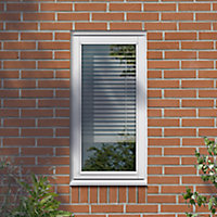 GoodHome Clear Double glazed White LH Window, (H)1195mm (W)625mm