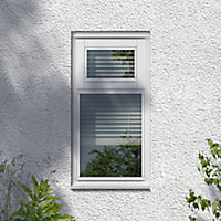 GoodHome Clear Double glazed White Top hung Window, (H)895mm (W)625mm