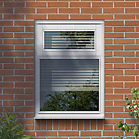 Clear Double glazed White Top hung Window, (H)895mm (W)1195mm