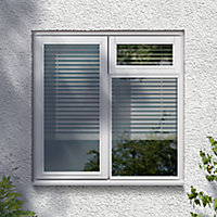 GoodHome Clear Double glazed White Top hung Window, (H)1195mm (W)1195mm