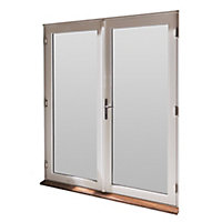 GoodHome Clear Double glazed White Hardwood Reversible Patio door & frame, (H)2094mm (W)1794mm