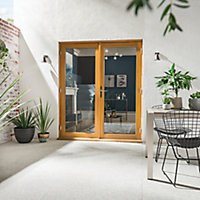 GoodHome Clear Double glazed Hardwood Reversible Patio door & frame, (H)2094mm (W)1794mm