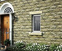Clear Double glazed White LH Window, (H)895mm (W)625mm