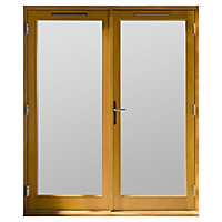 GoodHome Clear Double glazed Hardwood Right-hand Patio door & frame, (H)2094mm (W)1494mm