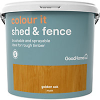GoodHome Colour it Golden oak Matt Fence & shed Stain, 5L