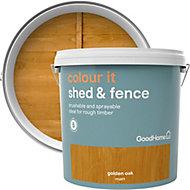 GoodHome Colour it Golden oak Matt Fence & shed Stain, 9L