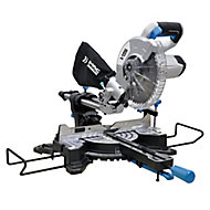 Mac Allister 1500W 220-240V 210mm Sliding mitre saw MMIS210S-B