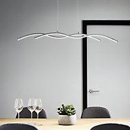Alani Chrome effect 2 Lamp Pendant ceiling light